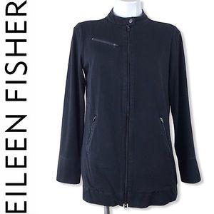 eileen fisher lightweigh organic cotton zip jacket